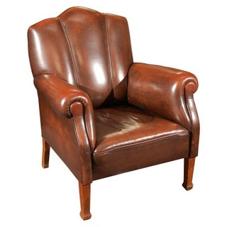 Art Deco Style Leather Arm Chair