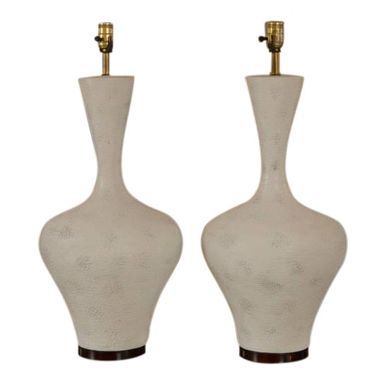 Image of Pair of Mid-Century Large Sculptural Lamp