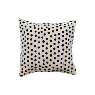 African Black and Cream Dotted Cushion