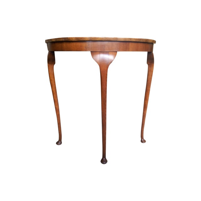 19th Century Cherry Wood Demilune Table - Image 1 of 6