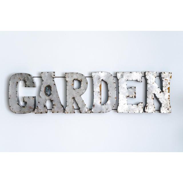 "Image of ""Garden"" Metal Marquee Sign"