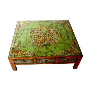 Hand-Painted Tibetan Coffee Table