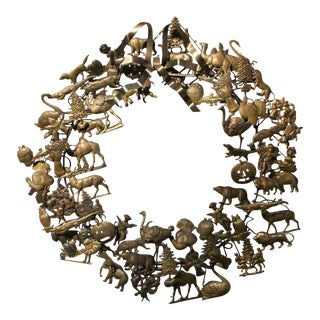 Vintage Petite Choses Brass Holiday Wreath