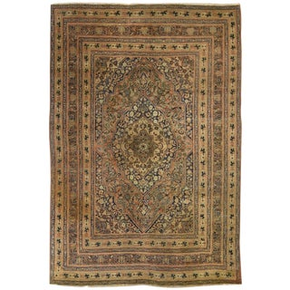 Persian Hadj Jalili Tabriz Antique Rug