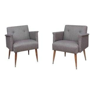 Vintage Mid-Century Armchairs - A Pair