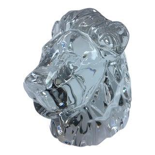 Baccarat Crystal Lion Head