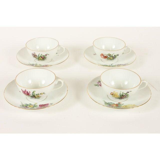 Bing&Grondahl Saxon Flower Cup & Saucer - Set of 4 - Image 2 of 5