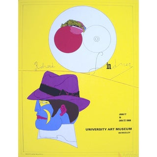 "Richard Lindner ""University Art Museum"" 1969 Serigraph Poster"