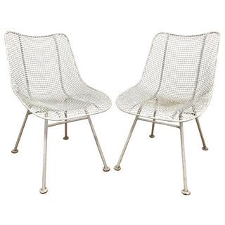 Russell Woodard Sculptura Wire Chairs - A Pair