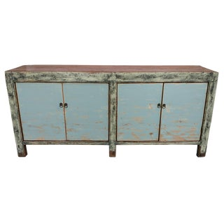 Blue Distressed Antique Gansu Sideboard