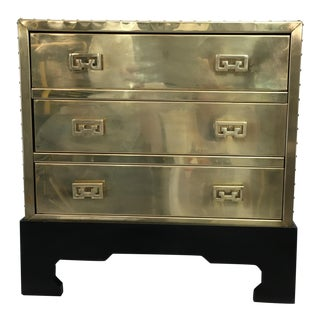Sarreid Brass Chest on Stand
