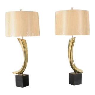 Sculptural Pair of Large-Scale Lamps by Laurel