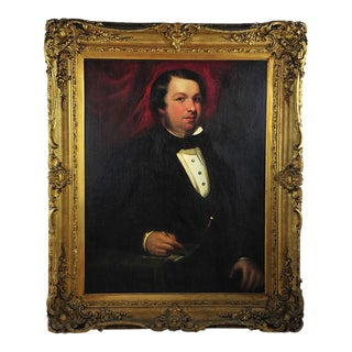"19th Century Portrait of an English Gentleman in Ornate Gilt Frame - 28.25"" x 36"""