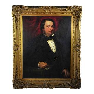 "19th Century Portrait of an English Gentleman in Ornate Gilt Frame - 28.25"" x 36"""