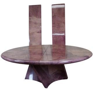 Karl Springer Genuine Goatskin Pedestal Table