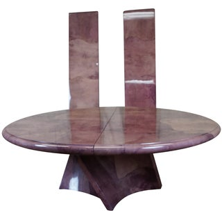Karl Springer Genuine Goatskin Pedestal Table