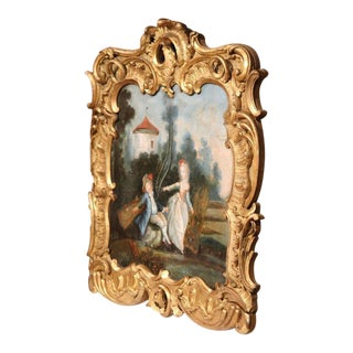 French Louis XV Trumeau Painting