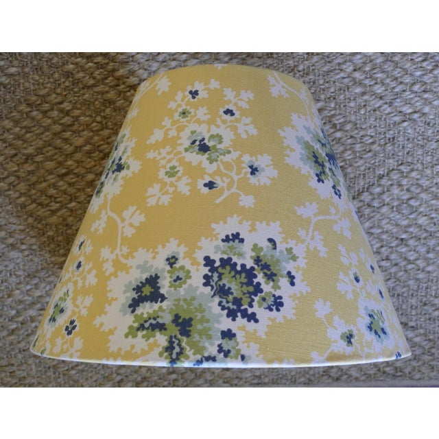 Custom Lampshades in Tilton Fenwick Fabric - a Pair - Image 5 of 5