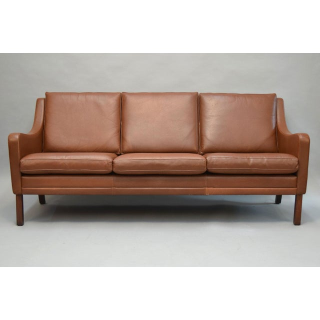 On Hold - Borge Mogensen Style Danish 3 Seater Leather Sofa - Image 3 of 10
