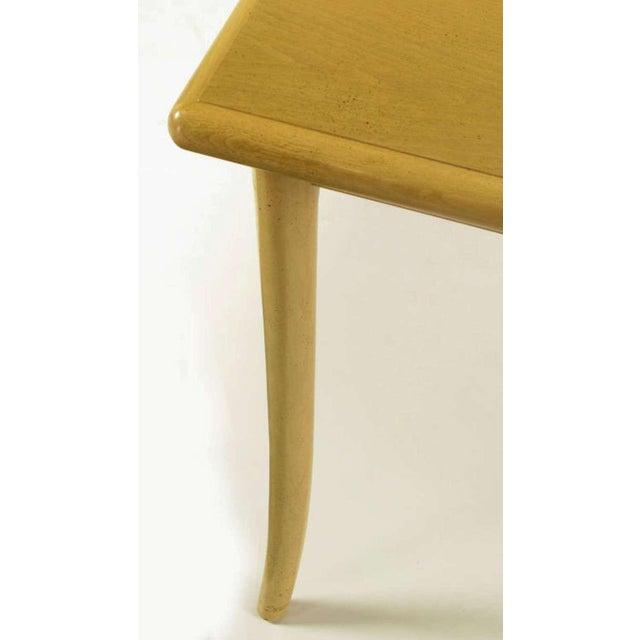 Image of T.H.Robsjohn-Gibbings Bleached & Glazed Mahogany Saber Leg Dining Table