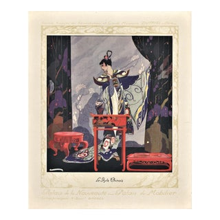 Art Deco Fashion-Interior Deco lithograph-Chinese