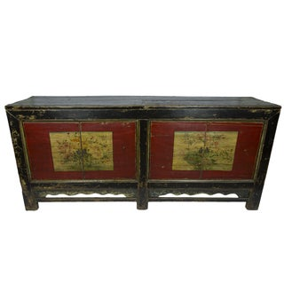 Red & Black Painted Mongolian Sideboard
