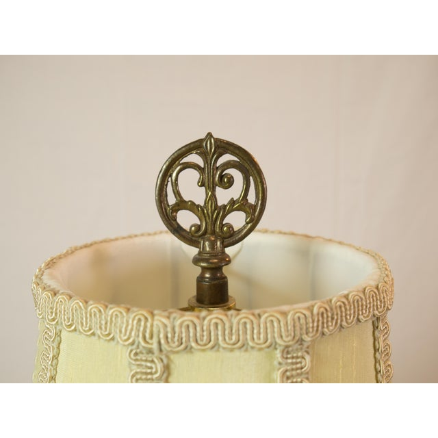 Majolica French Pottery Lamp - Image 7 of 8