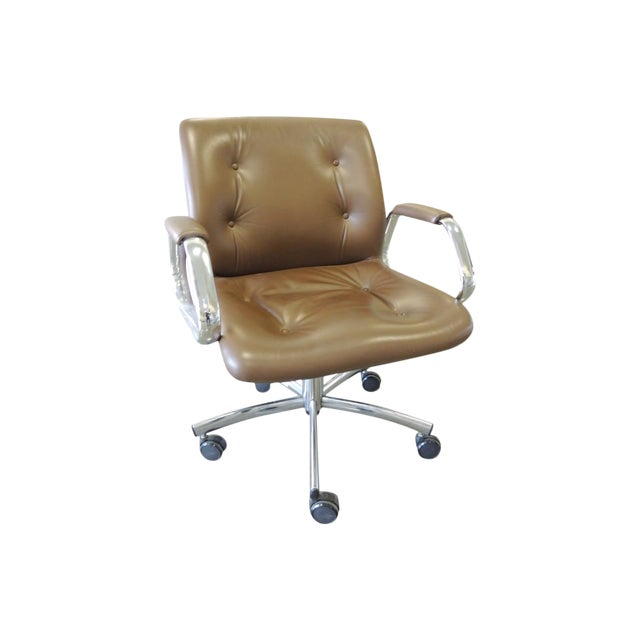 Steelcase Mid-Century Brown Office Chair - Image 1 of 3