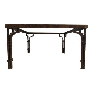 Vintage French Regency Faux Bamboo Metal Table Base
