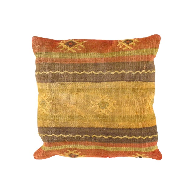 Vintage Kilim Pillow from Turkey - Image 1 of 3