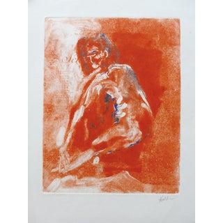 """Orange Model"" Original Painting by Martha Holden"
