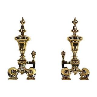 19th Century French Brass Chenets