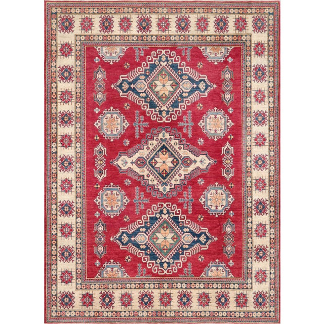 Pasargad's Kazak Hand Knotted Wool Rug - 9'11x13'6