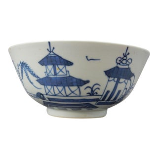 Antique Chinese Export Blue and White Nanking Bowl