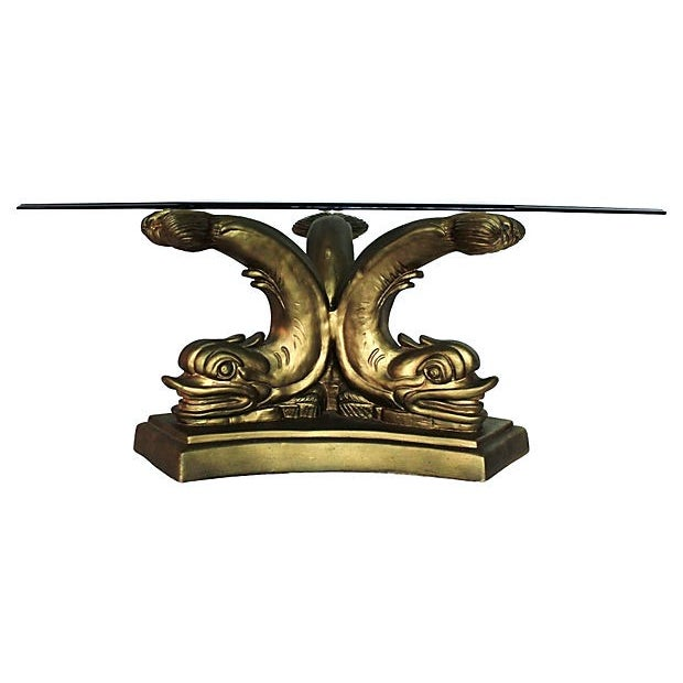 Gilt Dolphin Coffee Table - Image 1 of 5