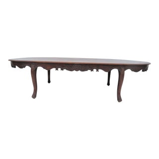 Carved Mahogany Oval Conference Table