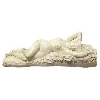 Italian Life-Size Carrara Marble Maiden