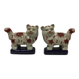 Staffordshire Cats - Pair