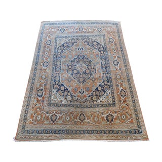 Fine Persian Antique Tabriz Rug - 4′1″ × 5′8″