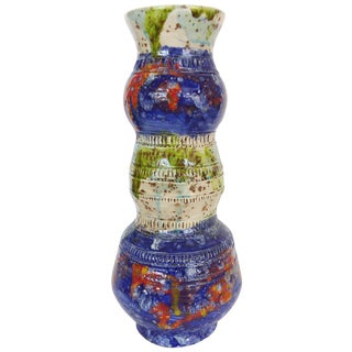 Multi-Colored Glazed Ceramic Vase by Gary Fonseca