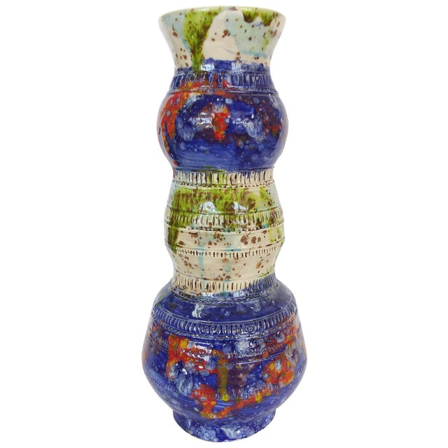 Multi-Colored Glazed Ceramic Vase by Gary Fonseca - Image 1 of 8