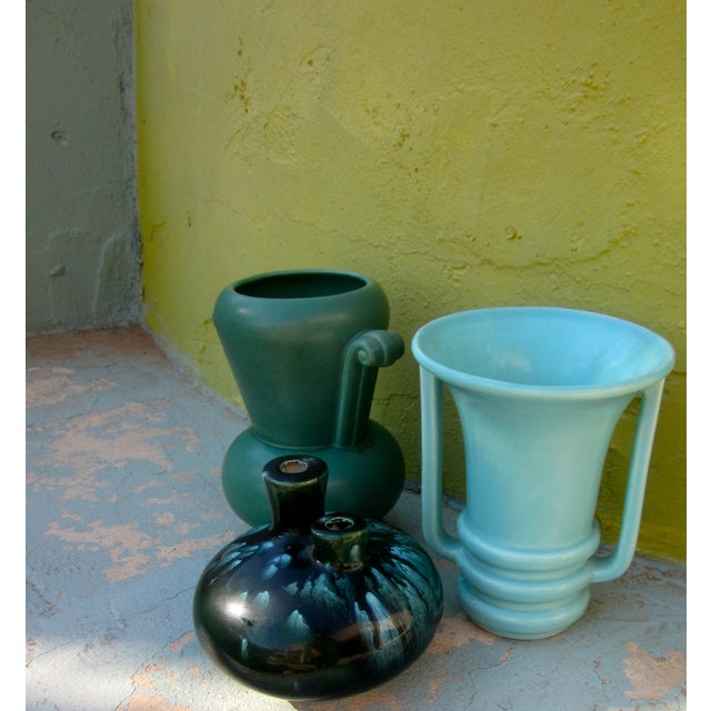 Image of Mid-Century Modernist Pottery Vases - Set of 3
