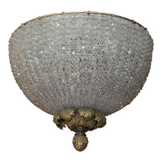 C.1890's Antique French Napoleon III Beaded Dome Chandelier