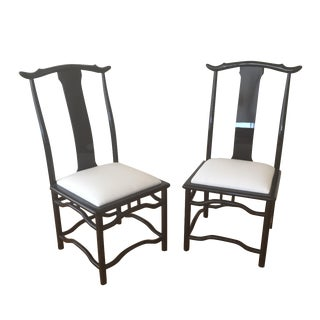 Hollywood Regency Dining Chairs - A Pair