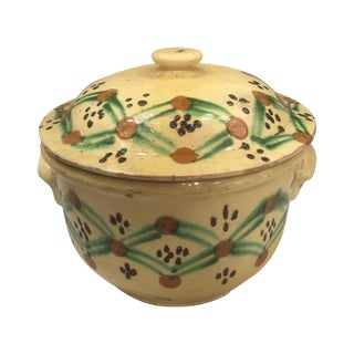 19th C. Yellow French Pottery Tureen