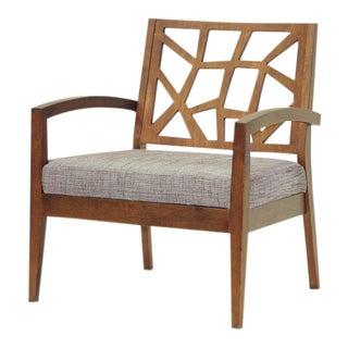 Gray Twill Danish Jennifer Lounge Chair