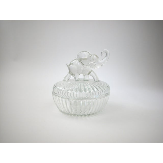 Glass Lidded Elephant Bowl - Image 2 of 7