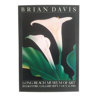 "Vintage 1980 Brian Davis Collotype Print ""Calla 1"" Long Beach Museum Exhibition Poster"