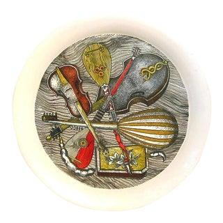 1950s-60s Vintage Piero Fornasetti Strumenti Pattern Metal Tray