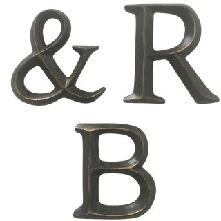 """Vintage Wall Mount Resin Letters """" R & B """""""